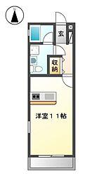 NEST黒川[2階]の間取り