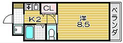 CITY COM高槻[3階]の間取り