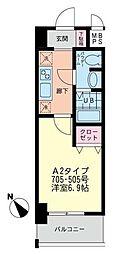プラティス横須賀[705号室]の間取り