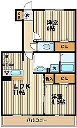 リバーサイドガーデン[1階]の間取り