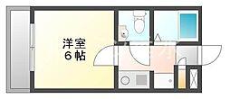 リバーサイド山本[2階]の間取り