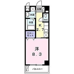 バス 田頭下車 徒歩3分の賃貸アパート 3階1Kの間取り