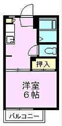ハイツ前田[202号室]の間取り