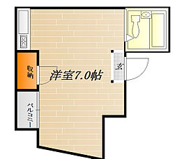 ルッツ清水[1階]の間取り