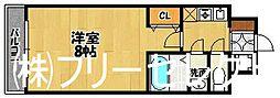 ピュアドームパラジオ博多[6階]の間取り