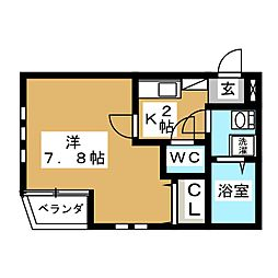 A-legato大曽根西[2階]の間取り