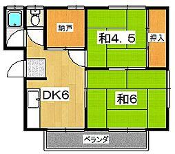 翠香園コーポ百合[2階]の間取り