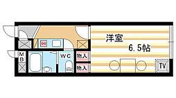 兵庫県神戸市兵庫区本町2丁目の賃貸アパートの間取り