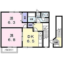 ステージアI[2階]の間取り