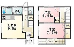 [テラスハウス] 滋賀県甲賀市甲南町希望ケ丘4丁目 の賃貸【/】の間取り