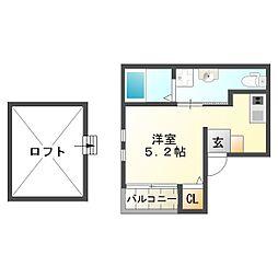 スムーノ垂水山手[2階]の間取り