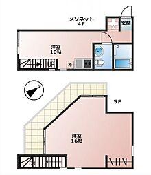 HESTIN HIGASHIAZABU[4階]の間取り
