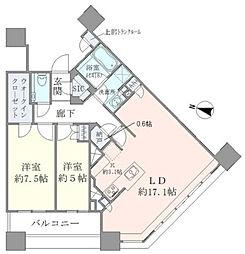 ブリリアタワーズ目黒ノースレジデンス[31階]の間取り
