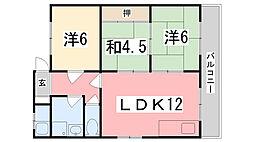 竹内マンション[302号室]の間取り