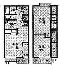 カーサVII[1階]の間取り