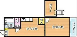 ピンズ貴船台[2階]の間取り