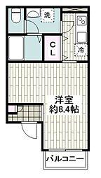 横浜市営地下鉄ブルーライン 蒔田駅 徒歩2分の賃貸アパート 1階1Kの間取り