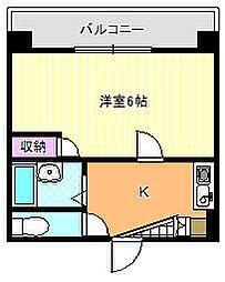 ハイコート駒川[2階]の間取り