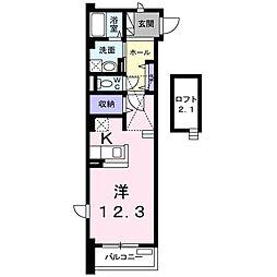 愛知県名古屋市緑区松が根台の賃貸マンションの間取り