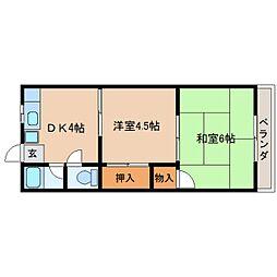 奈良県奈良市芝辻町の賃貸マンションの間取り