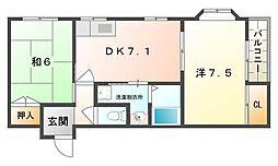 チェリーコートI・II[3階]の間取り