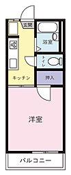 メゾンド鶴[107号室]の間取り
