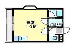 サンハイツ多井田A棟[100号室]の間取り