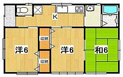 [一戸建] 茨城県日立市滑川町2丁目 の賃貸【/】の間取り
