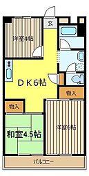 スカイハイツ長根[7階]の間取り