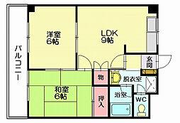SUE STATIONハイツ[1階]の間取り