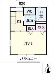 メゾンR&AIX[1階]の間取り
