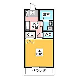 MIKIハイツII−D[1階]の間取り