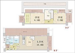 NLC新大阪PartII[803号室]の間取り