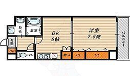 BELLフォレスト鶴見 4階1DKの間取り
