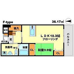 ロハス江坂[3階]の間取り
