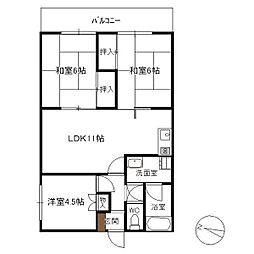 RKマンション[402号室]の間取り