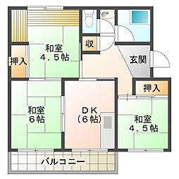 南多聞台住宅[2階]の間取り