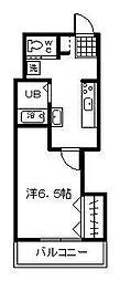 第2小田ビル[303号室]の間取り