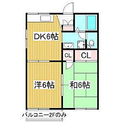 フォーブル・ライフB棟[2階]の間取り
