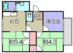 リバティーハイツ[2階]の間取り