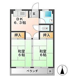 河村ビル[4階]の間取り
