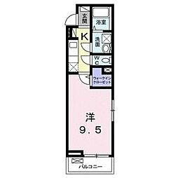 愛知県名古屋市南区鳴尾2の賃貸アパートの間取り