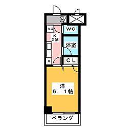 東海通ホワイトビル[4階]の間取り