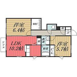千葉県千葉市緑区あすみが丘東3丁目の賃貸アパートの間取り