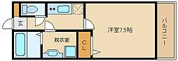 大阪府柏原市片山町の賃貸アパートの間取り