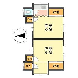 第二村上荘[2F号室]の間取り
