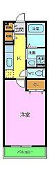 南海高野線 金剛駅 徒歩17分の賃貸アパート 1階1Kの間取り