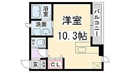 兵庫県伊丹市南町2丁目の賃貸アパートの間取り