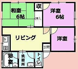 小金井コーポ一宮[1階]の間取り