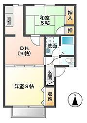 仁ハイツII[2階]の間取り